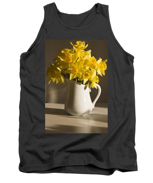 Daffodil Filled Jug Tank Top by Sandra Foster