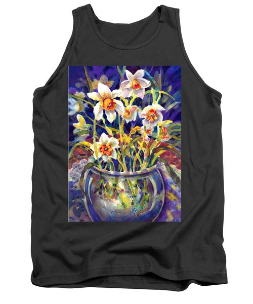 Daffodils And Lace Tank Top