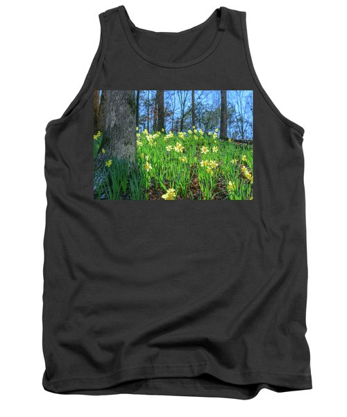 Daffodils On Hillside 2 Tank Top