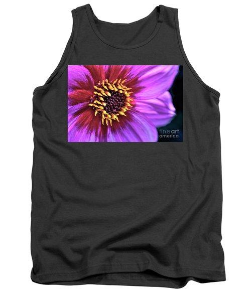 Dahlia Flower Portrait Tank Top