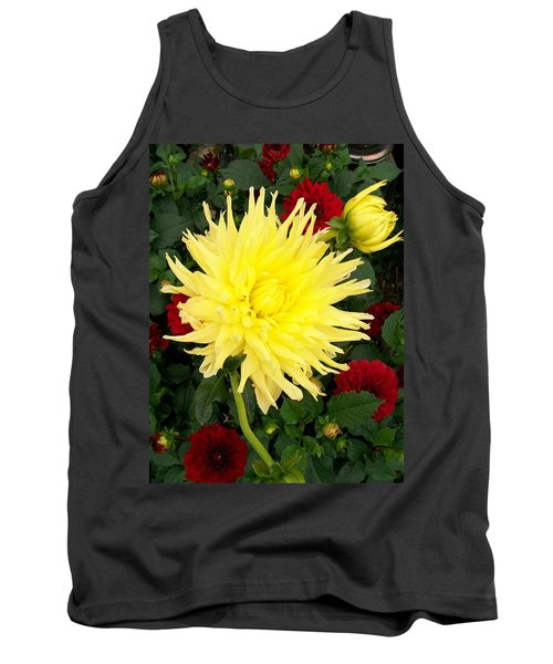 Tank Top featuring the photograph Dahlia's by Sharon Duguay