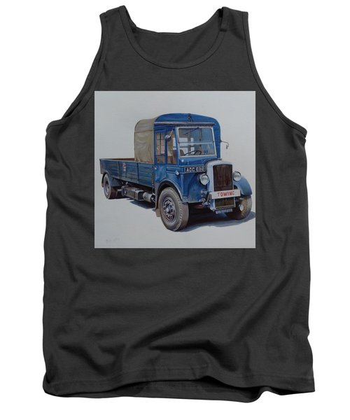 Tank Top featuring the painting Daimler Wrecker Btc by Mike Jeffries