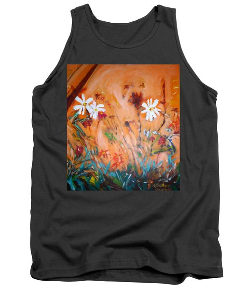 Daisies Along The Fence Tank Top