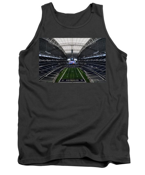 Dallas Cowboys Stadium End Zone Tank Top by Jonathan Davison
