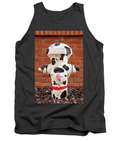 Tank Top featuring the photograph Dalmation Hydrant by James Eddy