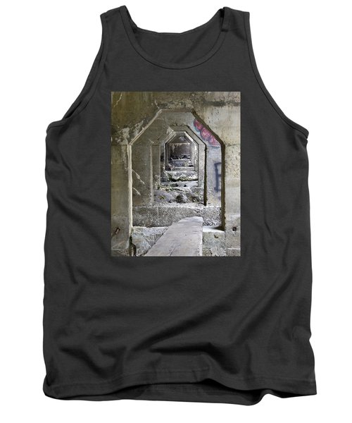 Tank Top featuring the photograph Dam Above Garwin Falls, Wilton, Nh by Betty Denise