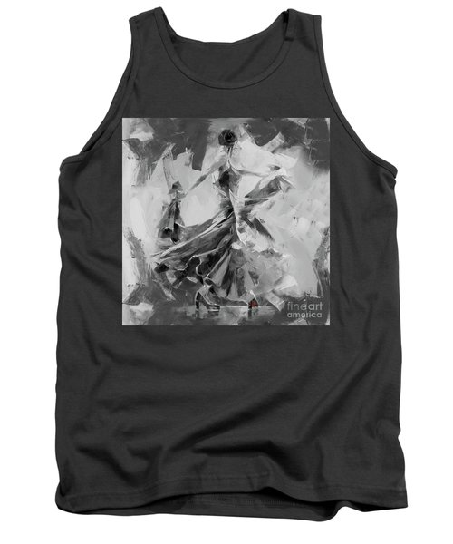 Tank Top featuring the painting Dance Flamenco 01 by Gull G