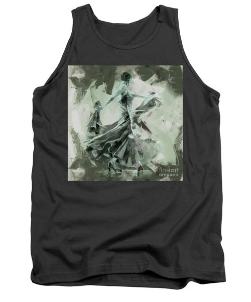 Tank Top featuring the painting Dance Flamenco Art  by Gull G