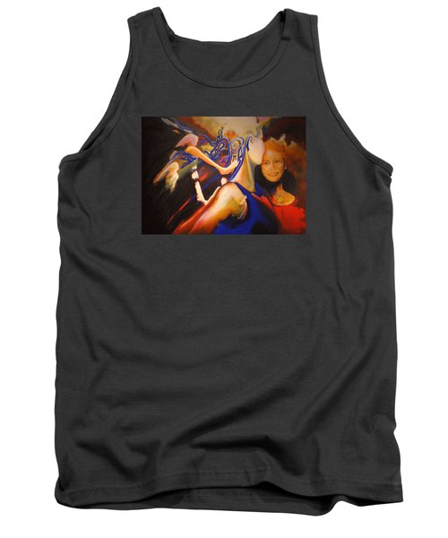 Tank Top featuring the painting Dancers by Georg Douglas