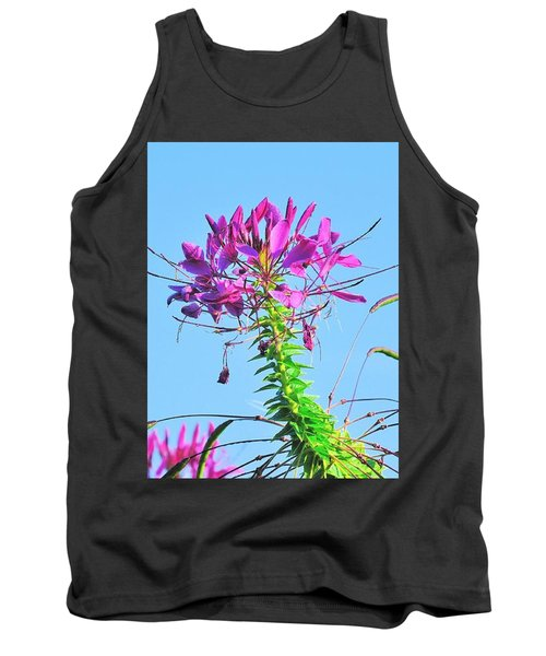 Tank Top featuring the photograph Dancing Cleome by Debbie Stahre