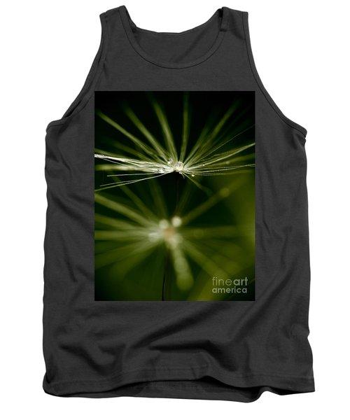 Dandelion Flower With Water Drops  Tank Top