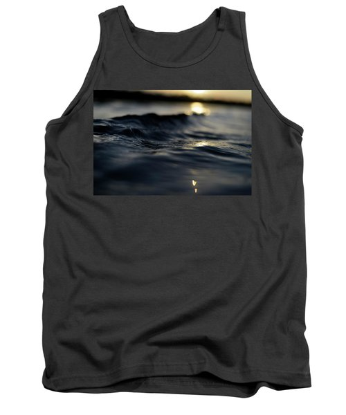 Tank Top featuring the photograph Dark Atlantic Traces by Laura Fasulo
