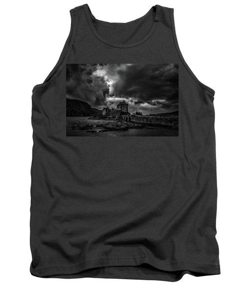 Dark Clouds Bw #h2 Tank Top