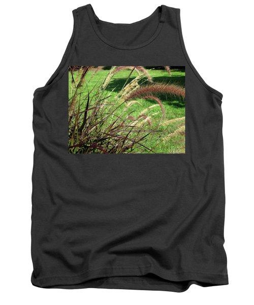 Dark Feather Grass Tank Top by Michele Wilson