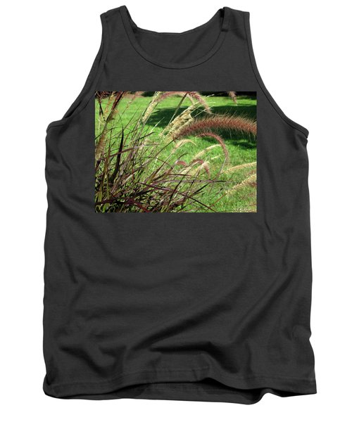 Dark Feather Grass Tank Top