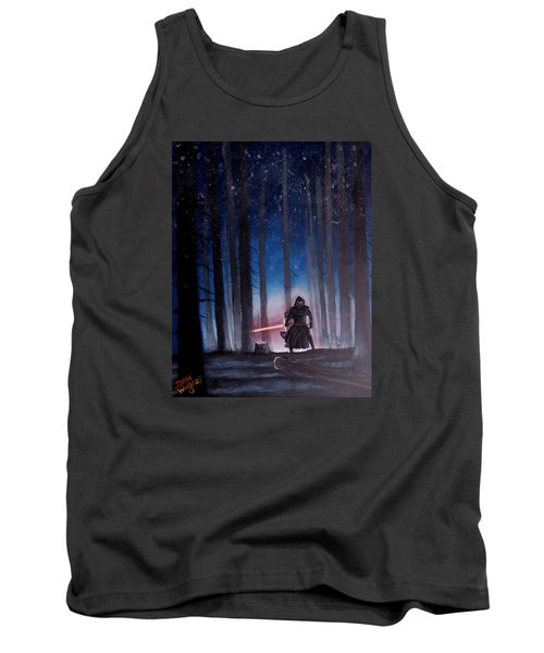 Tank Top featuring the painting Dark Jedi by Dan Wagner