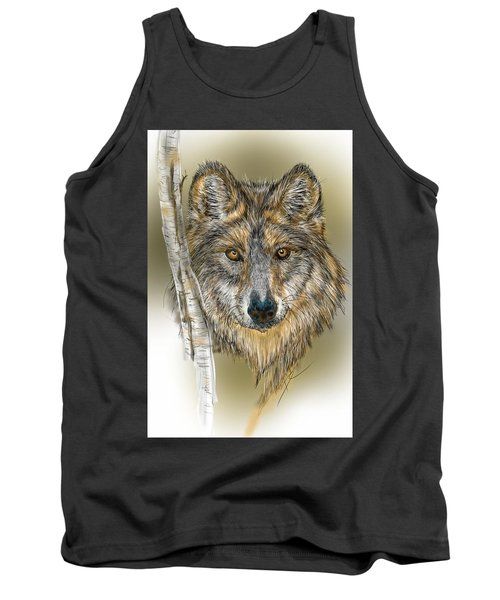 Dark Wolf With Birch Tank Top