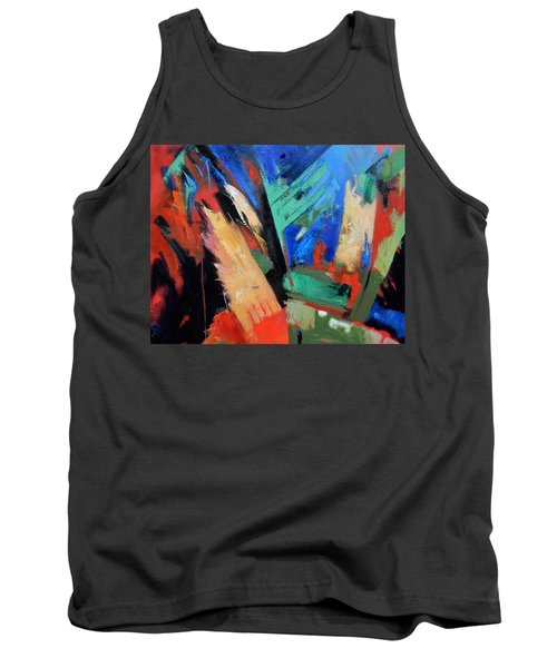 Tank Top featuring the painting Darkness And Light by Gary Coleman