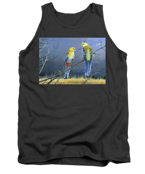 Darkness Before The Deluge - Pale-headed Rosellas Tank Top