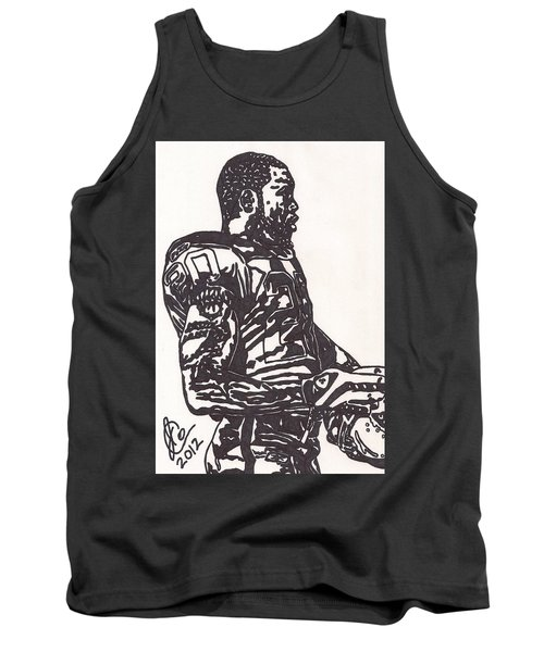 Tank Top featuring the drawing Darren Mcfadden 1 by Jeremiah Colley