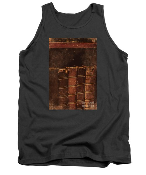 Tank Top featuring the photograph Dated Textbooks by Jorgo Photography - Wall Art Gallery