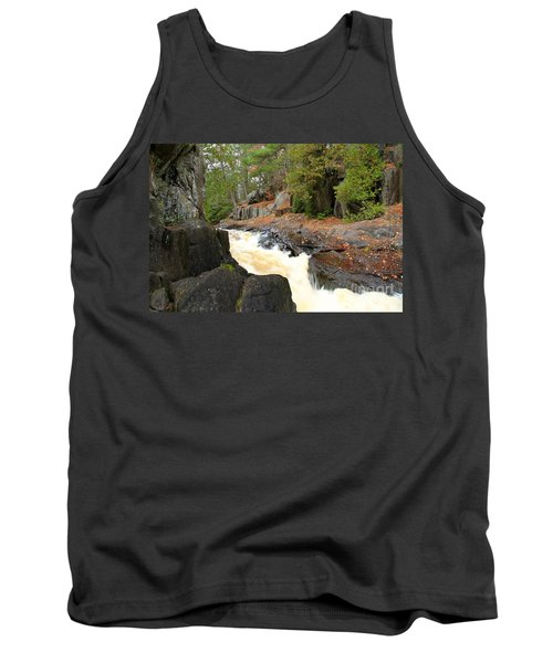 Tank Top featuring the photograph Dave's Falls #7311 by Mark J Seefeldt