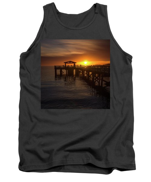 Davis Bay Pier Sunset 2 Tank Top
