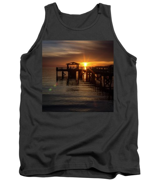 Davis Bay Pier Sunset Tank Top