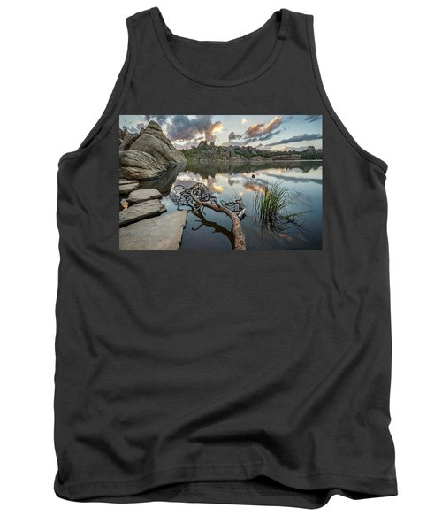 Tank Top featuring the photograph Dawn At Sylvan Lake by Adam Romanowicz