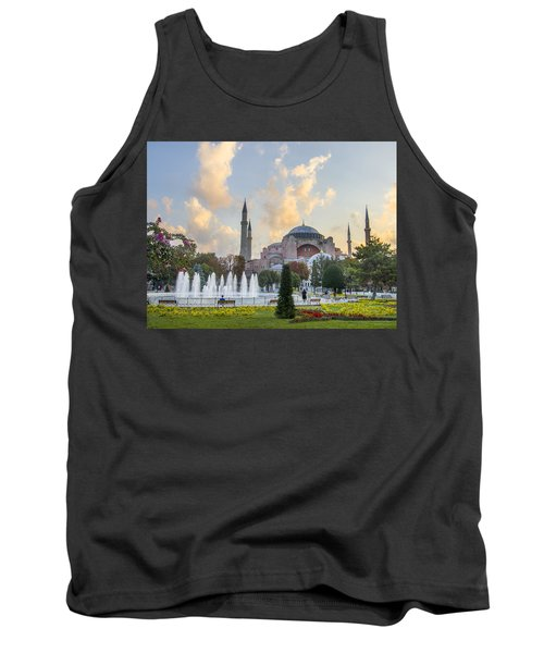 Tank Top featuring the photograph Dawn Hagia Sophia Istanbul by Sally Ross