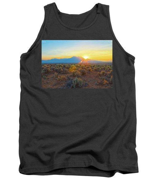 Dawn Over Magic Taos Mountain Tank Top