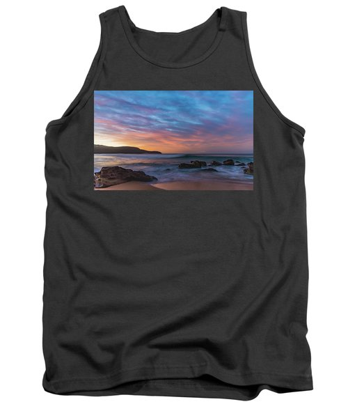 Dawn Seascape With Rocks And Clouds Tank Top