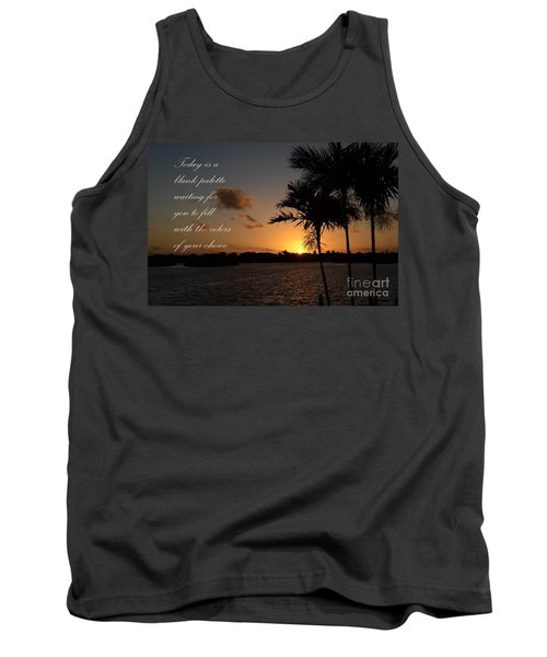 Tank Top featuring the photograph Dawn's Blank Palette by Pamela Blizzard