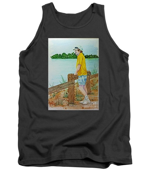 Tank Top featuring the painting Daydreaming by Terri Mills