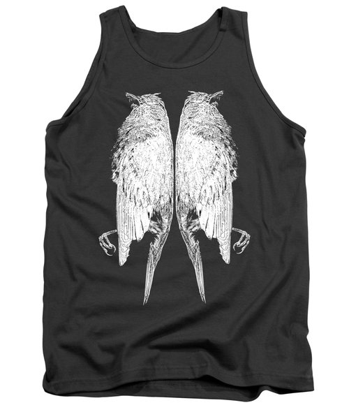 Dead Birds Tee White Tank Top by Edward Fielding