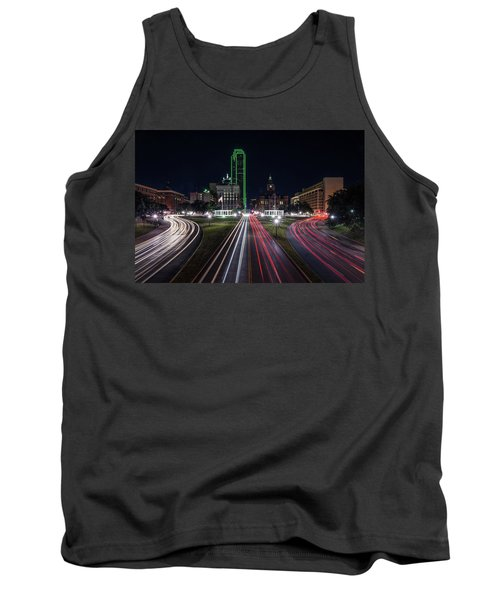 Dealey Plaza Dallas At Night Tank Top