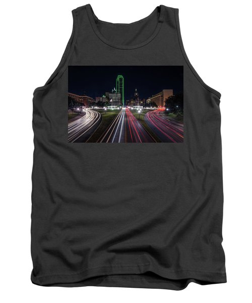 Dealey Plaza Dallas At Night Tank Top