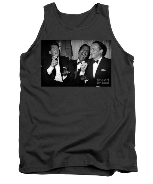 Dean Martin, Sammy Davis Jr. And Frank Sinatra Laughing Tank Top