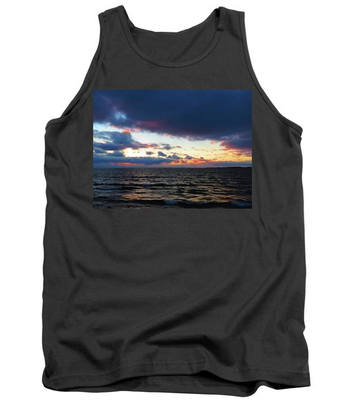 December Sunset, Wolfe Island, Ca. View From Tibbetts Point Lighthouse Tank Top
