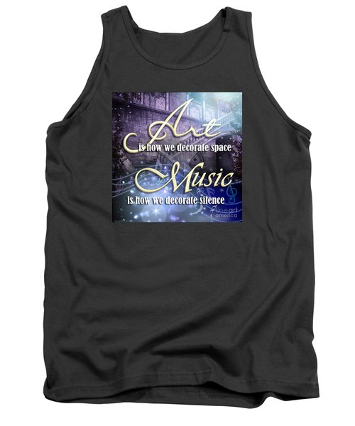 Tank Top featuring the digital art Decorate by Evie Cook
