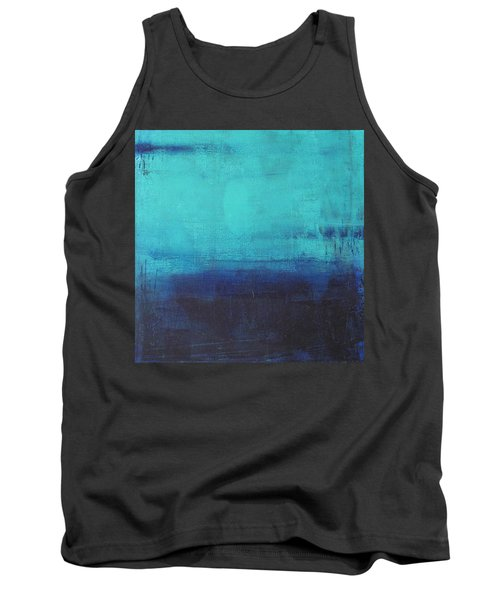 Tank Top featuring the painting Deep Blue Sea by Nicole Nadeau