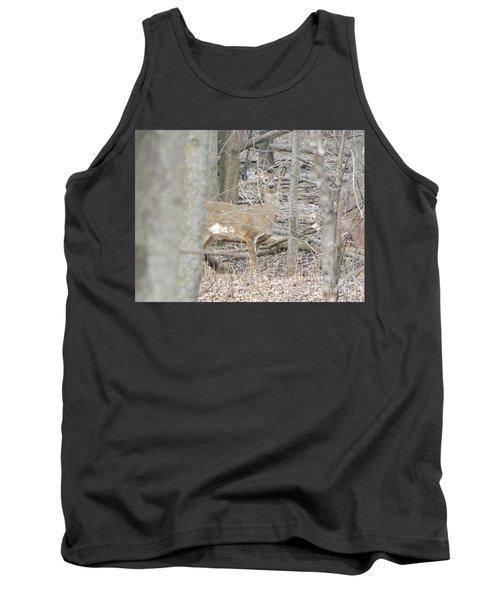 Deer Keeping Watch Tank Top by Erick Schmidt