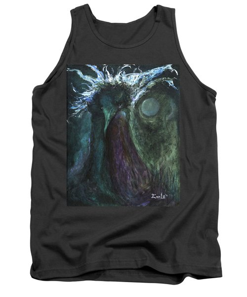 Tank Top featuring the painting Deformed Transcendence by Christophe Ennis