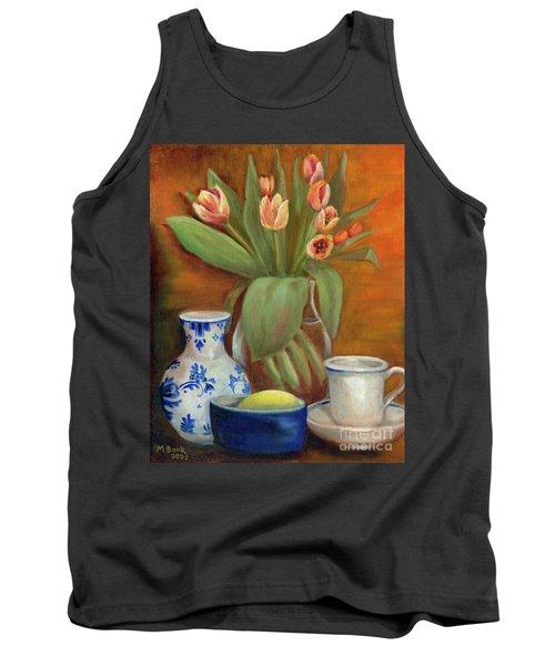 Delft Vase And Mini Tulips Tank Top
