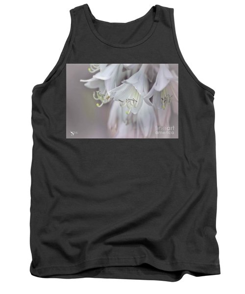 Delicate White Flowers Tank Top