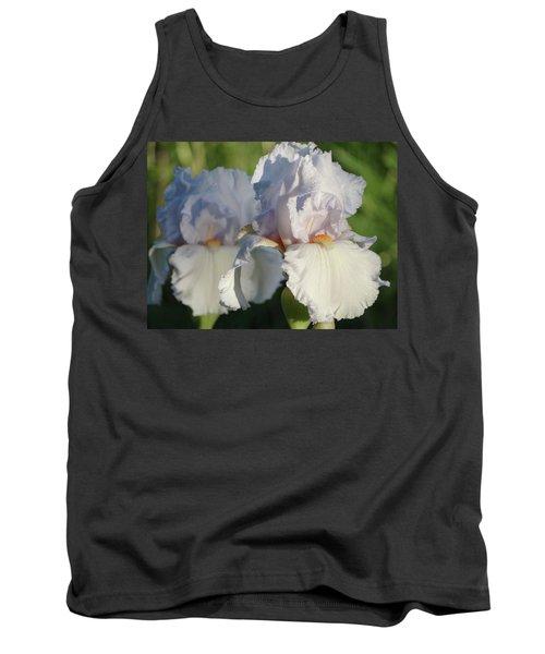 Delicate White Iris Tank Top