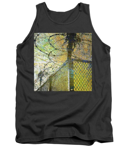Tank Top featuring the mixed media Deliverance by Tony Rubino