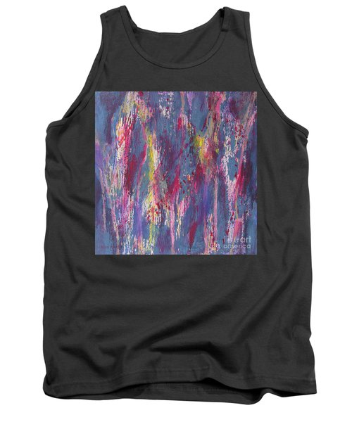 Tank Top featuring the painting Delve Deep 2 by Mini Arora
