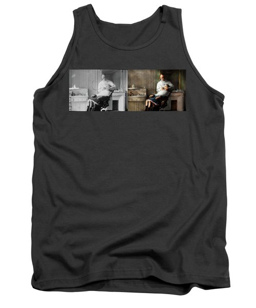 Tank Top featuring the photograph Dentist - Good Oral Hygiene 1918 - Side By Side by Mike Savad