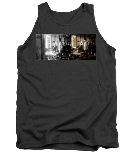 Tank Top featuring the photograph Dentist - The Horrors Of War 1917 - Side By Side by Mike Savad